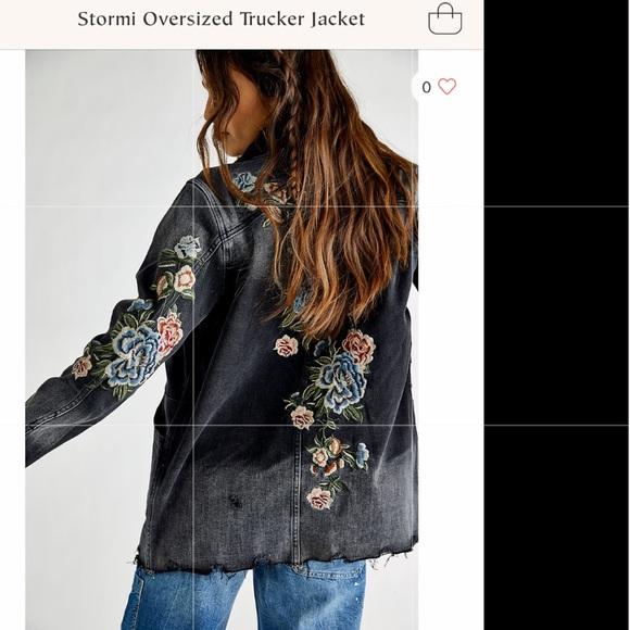 Driftwood x FP Stormi oversized trucker jacket